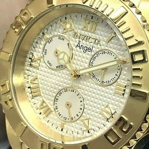 Invicta Angel Champagne Dial Gold Watch 17524